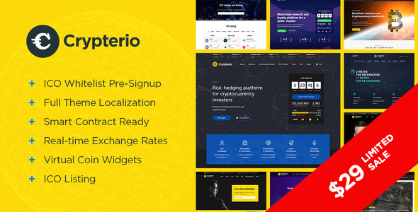 Image of Crypterio - ICO and Cryptocurrency WordPress Theme