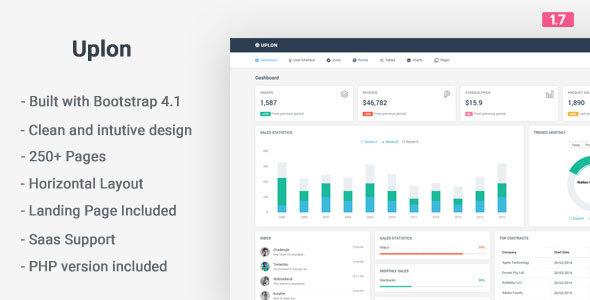 Image of Uplon - Responsive Bootstrap 4 Web App Kit