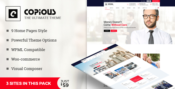 Copious - Multiuse WordPress Theme - Business Corporate