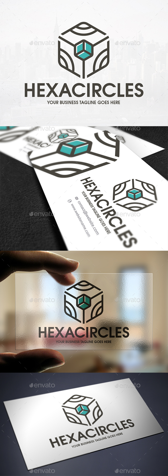 Hexa Cube Line Logo - Vector Abstract