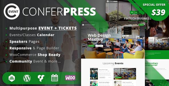 Image of ConferPress - Multipurpose Event Tickets WordPress Theme