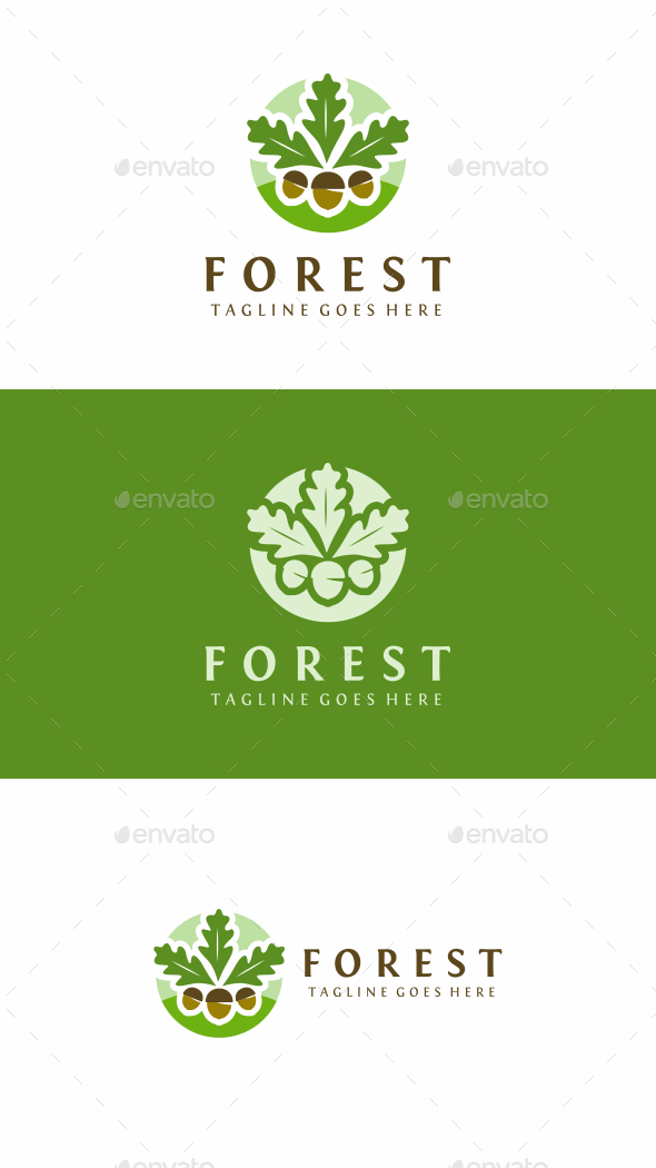Oak Forest - Nature Logo Templates