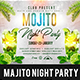 Mojito Party Flyer Template - GraphicRiver Item for Sale