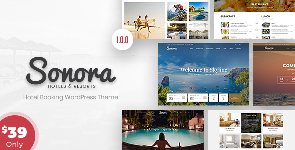 Image of Sonora - Hotel Booking WordPress Theme