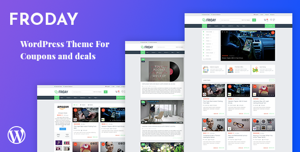 Froday – Coupons and Deals WordPress Theme by KlbTheme | ThemeForest