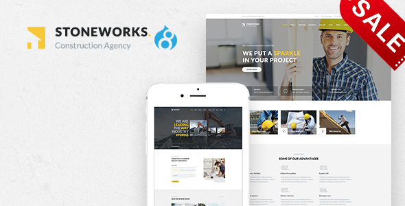 Image of Stoneworks - A Professional Drupal Theme for Construction, Architect & Building Business