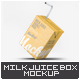 Milk or Juice Small Box Mock-Up