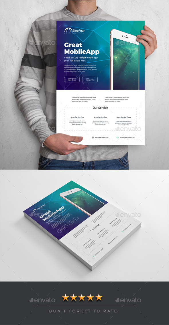 Mobile Apps Flyer Template - Commerce Flyers