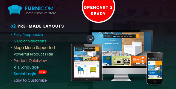 Furnicom - Responsive Multipurpose OpenCart 2.3 and 2.2 Theme - OpenCart eCommerce