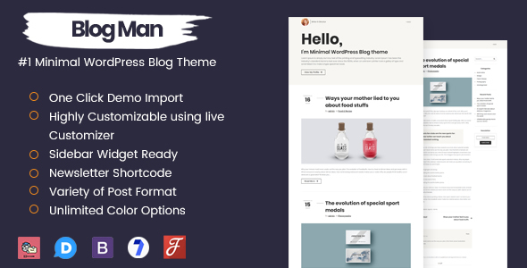 Image of Blogman - Minimal WordPress Blog Theme