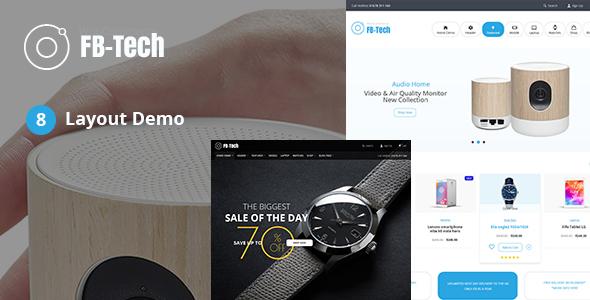FB-Tech - Digital RTL WooCommerce Theme - WooCommerce eCommerce