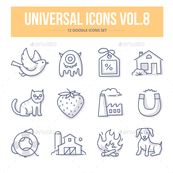 Universal Doodle Icons vol.8 - Objects Icons