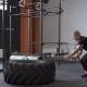 Fitness Man Doing Sledgehammer Swing Exercise in Gym - VideoHive Item for Sale