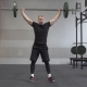 Fitness Man Doing Barbell Snatch Exercise in Gym - VideoHive Item for Sale