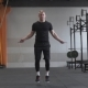 Fitness Man Doing Double Jumps Rope in the Gym - VideoHive Item for Sale
