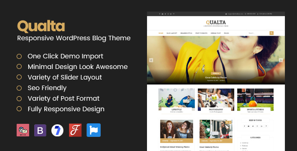Qualta - Responsive WordPress Blog Theme - Blog / Magazine WordPress