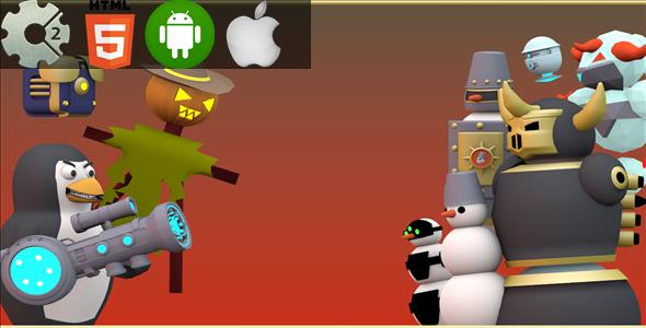 Combat Penguin - HTML5 Game + Mobile Version! (Construct-2 CAPX) - CodeCanyon Item for Sale