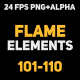 Liquid Elements 2 Flames 101-110 - VideoHive Item for Sale