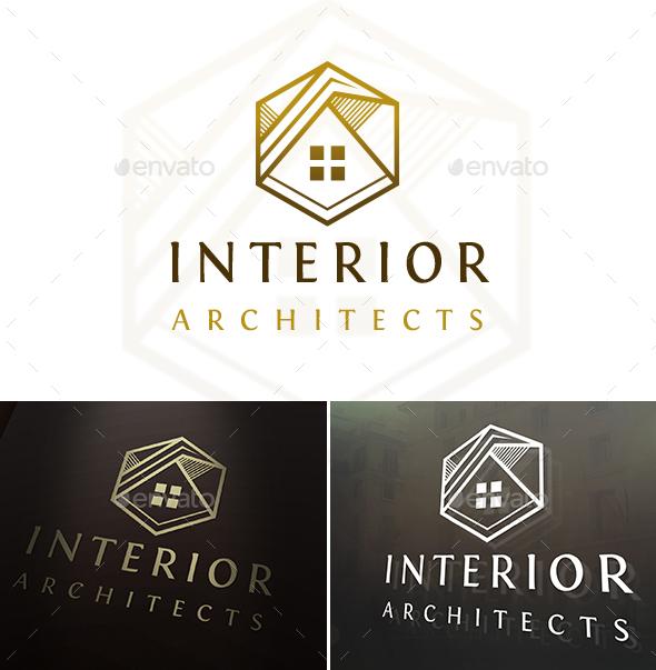 Hexa Sketch House Logo - Buildings Logo Templates