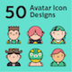 50 Avatar Icons Design