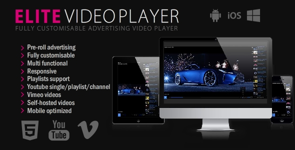 Elite Video Player - CodeCanyon Item for Sale