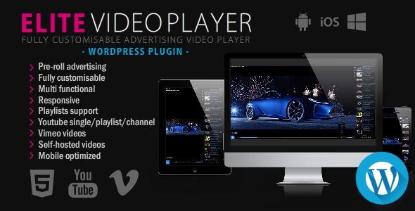 Elite Video Player - WordPress plugin - CodeCanyon Item for Sale