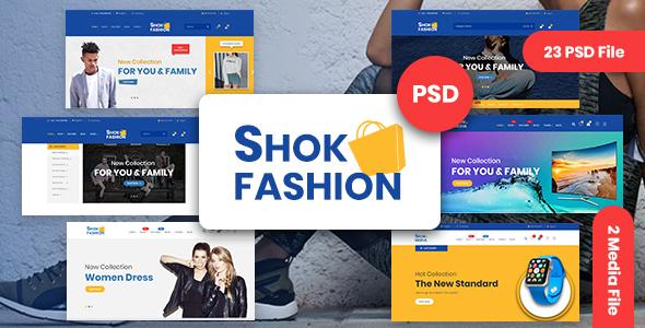 Fashion & Electronics eCommerce PSD Template