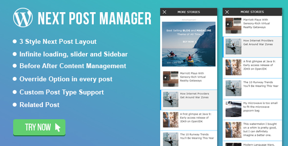 WordPress Infinite Related Post Manager - CodeCanyon Item for Sale