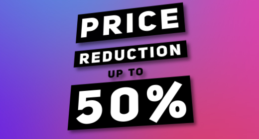 """SALE"" Price reduction up to 50%"