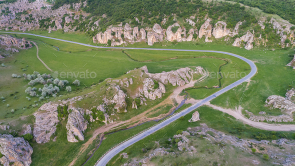 Dobrogea Gorges (Cheile Dobrogei) Romania - Stock Photo - Images