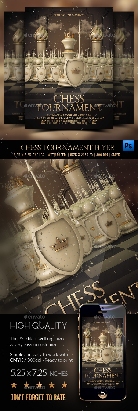 Chess Tournament Flyer - Events Flyers