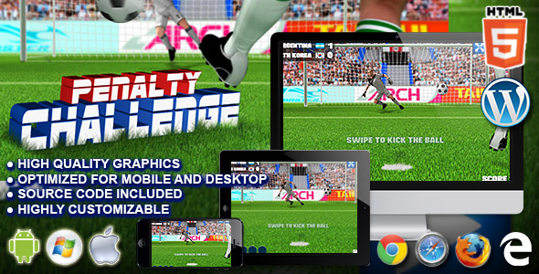Penalty Challenge - HTML5 Sport Game - CodeCanyon Item for Sale