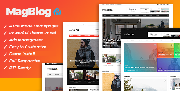 Image of MagBlog - News & Editorial Magazine Drupal 8.4 Theme