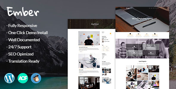 Ember - Digital Marketing Agency WordPress Theme - Marketing Corporate