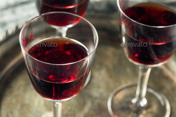 Sweet Port Dessert Wine - Stock Photo - Images