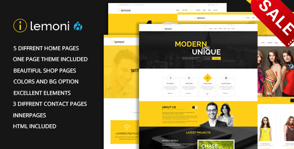 Lemoni - Multipurpose Drupal 8 Theme - Corporate Drupal