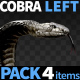 Cobra Left View Pack 4 - VideoHive Item for Sale
