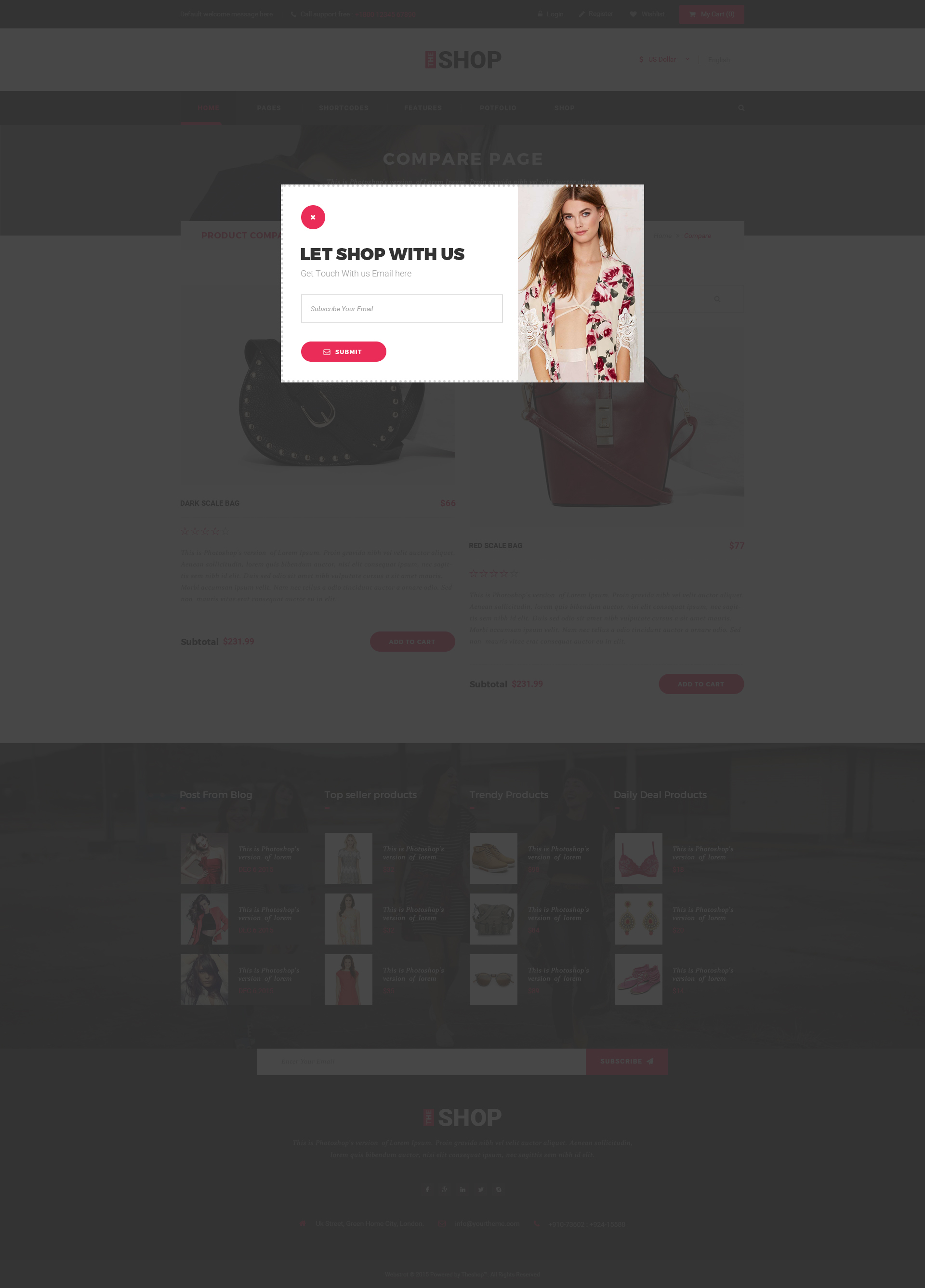 The Shop | Multipurpose e-commerce HTML Template by webstrot ...