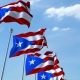 Waving Flags of Puerto Rico Against the Sky - VideoHive Item for Sale