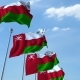 Waving Flags of Oman Against the Sky - VideoHive Item for Sale