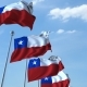 Waving Flags of Chile Against the Sky - VideoHive Item for Sale