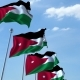 Waving Flags of Jordan Against the Sky - VideoHive Item for Sale