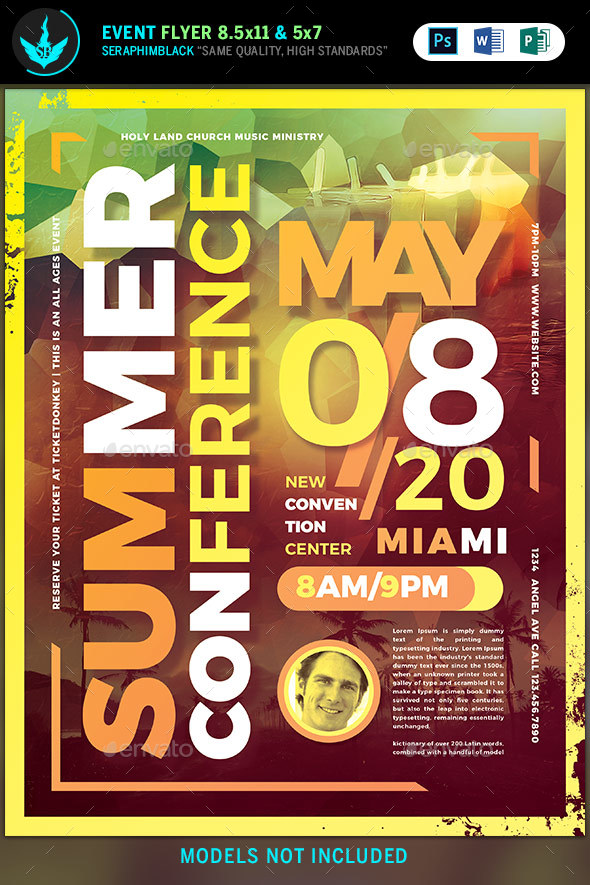 Summer Conference Flyer Template - Flyers Print Templates