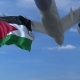 Commercial Airplane Flying Above Waving Flag of Jordan - VideoHive Item for Sale