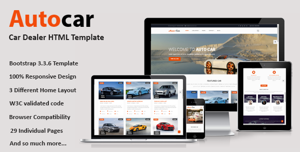 Auto Car - Car Dealer HTML Template - Business Corporate