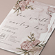 Flower Wedding Invitation - GraphicRiver Item for Sale