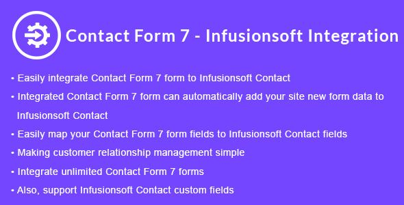 Contact Form 7 - Infusionsoft Integration - CodeCanyon Item for Sale