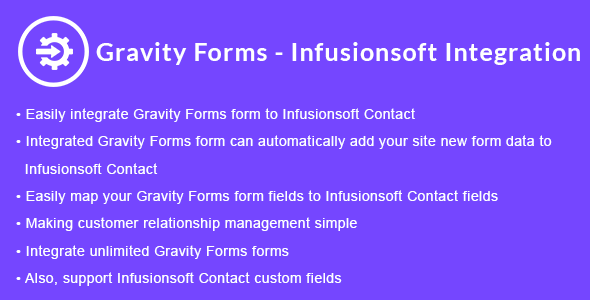 Gravity Forms - Infusionsoft Integration - CodeCanyon Item for Sale