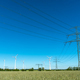 Power supply lines and wind turbines - PhotoDune Item for Sale