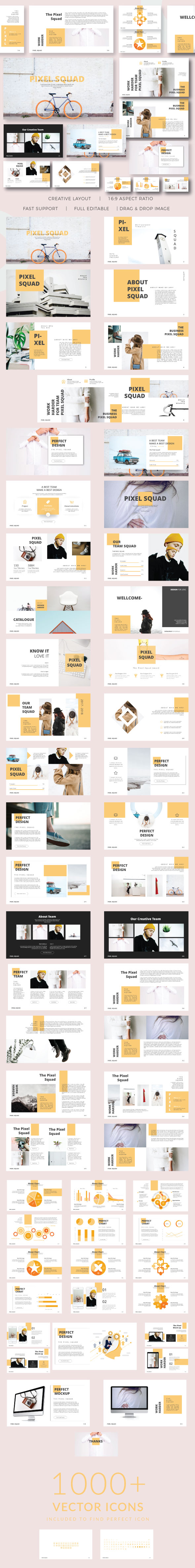 Pixma Squad Keynote Presentation - Business PowerPoint Templates
